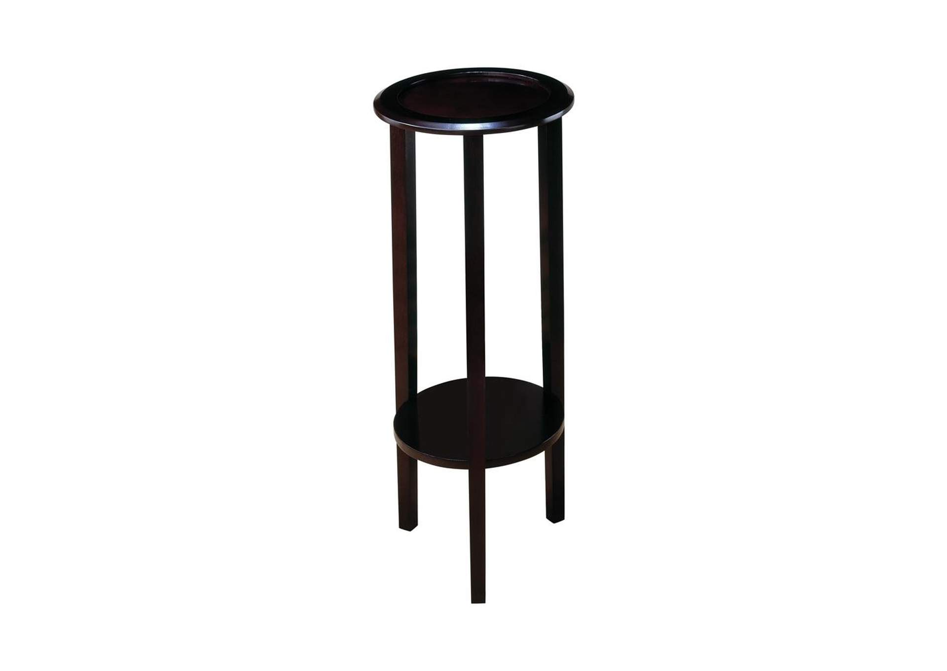 Espresso Transitional Round Espresso Plant Stand,Coaster Furniture