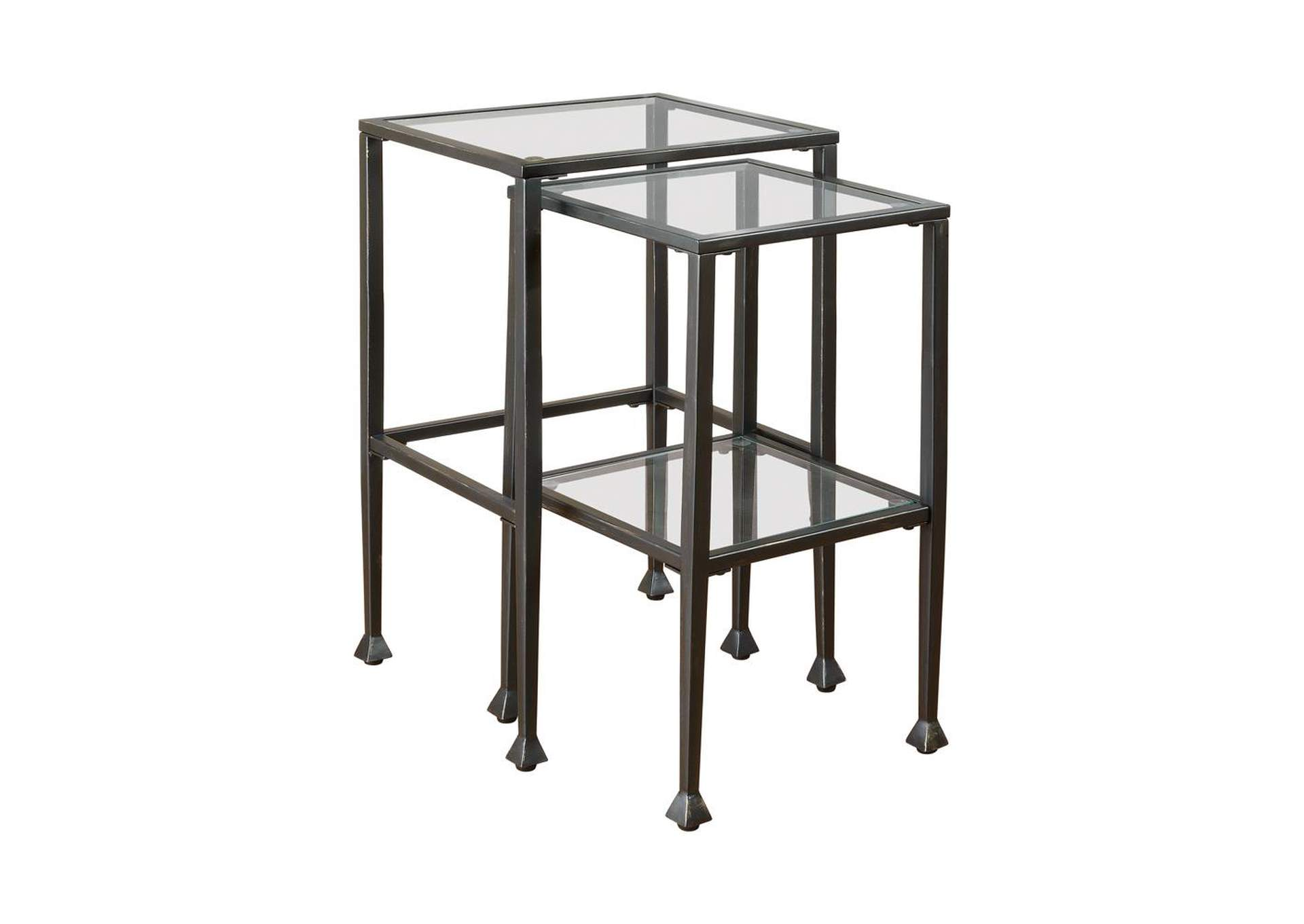 Black Transitional Black Nesting Table,Coaster Furniture