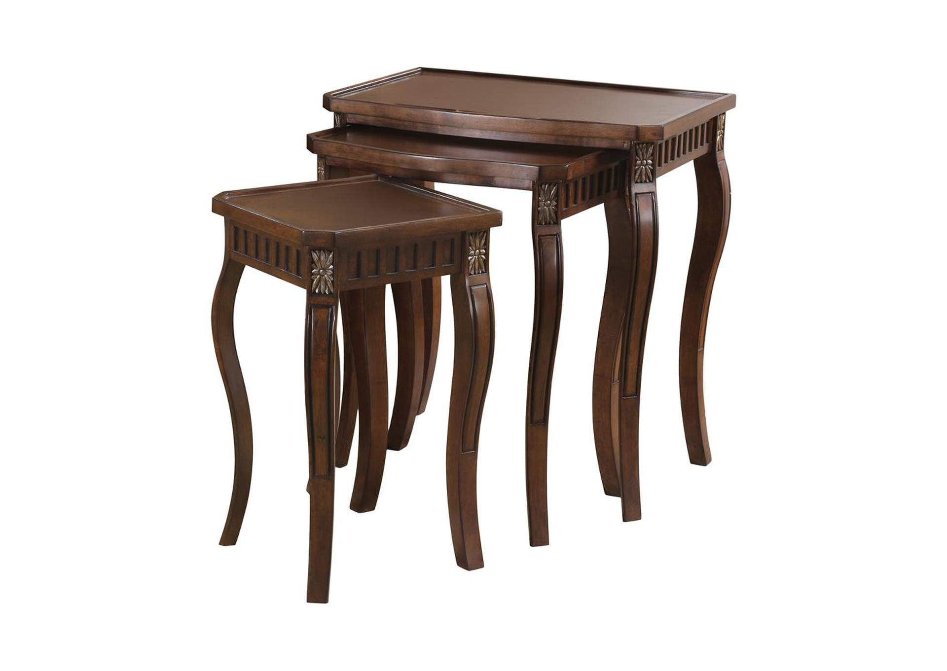 Warm Brown Traditional Warm Brown Nesting Table,Coaster Furniture