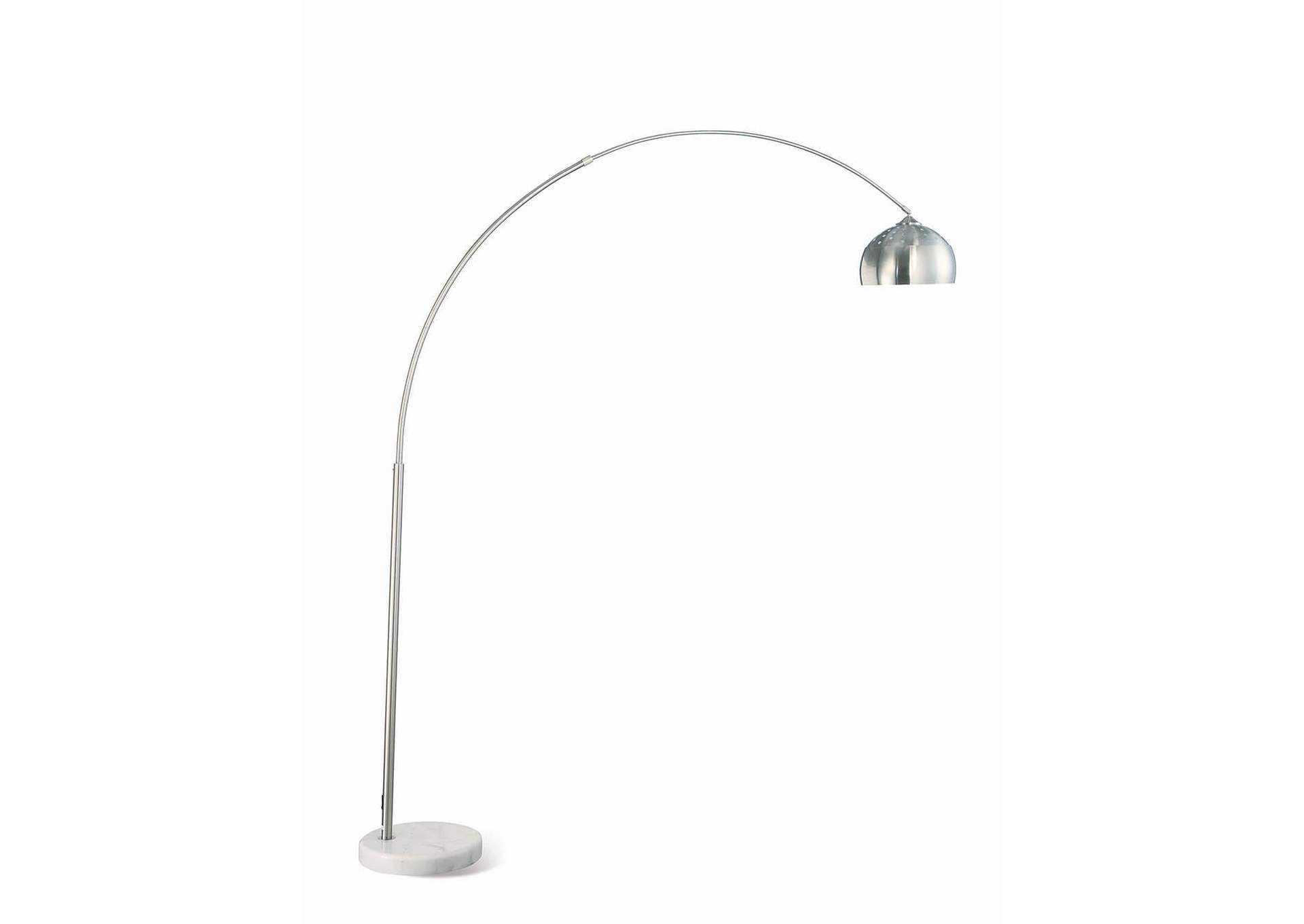 Chrome Contemporary Chrome Floor Lamp,Coaster Furniture