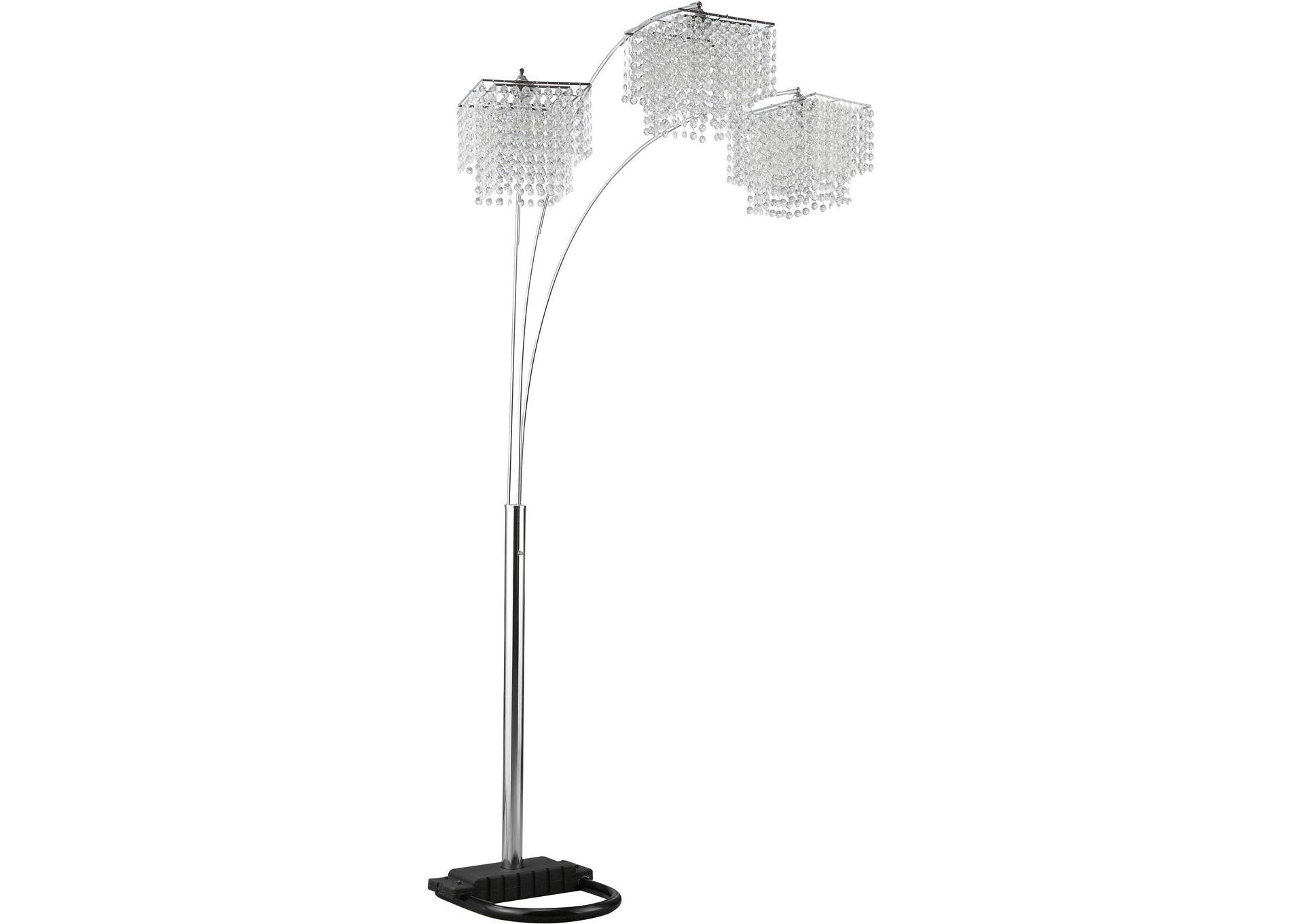 Chrome Traditional Chrome and Black Floor Lamp,Coaster Furniture