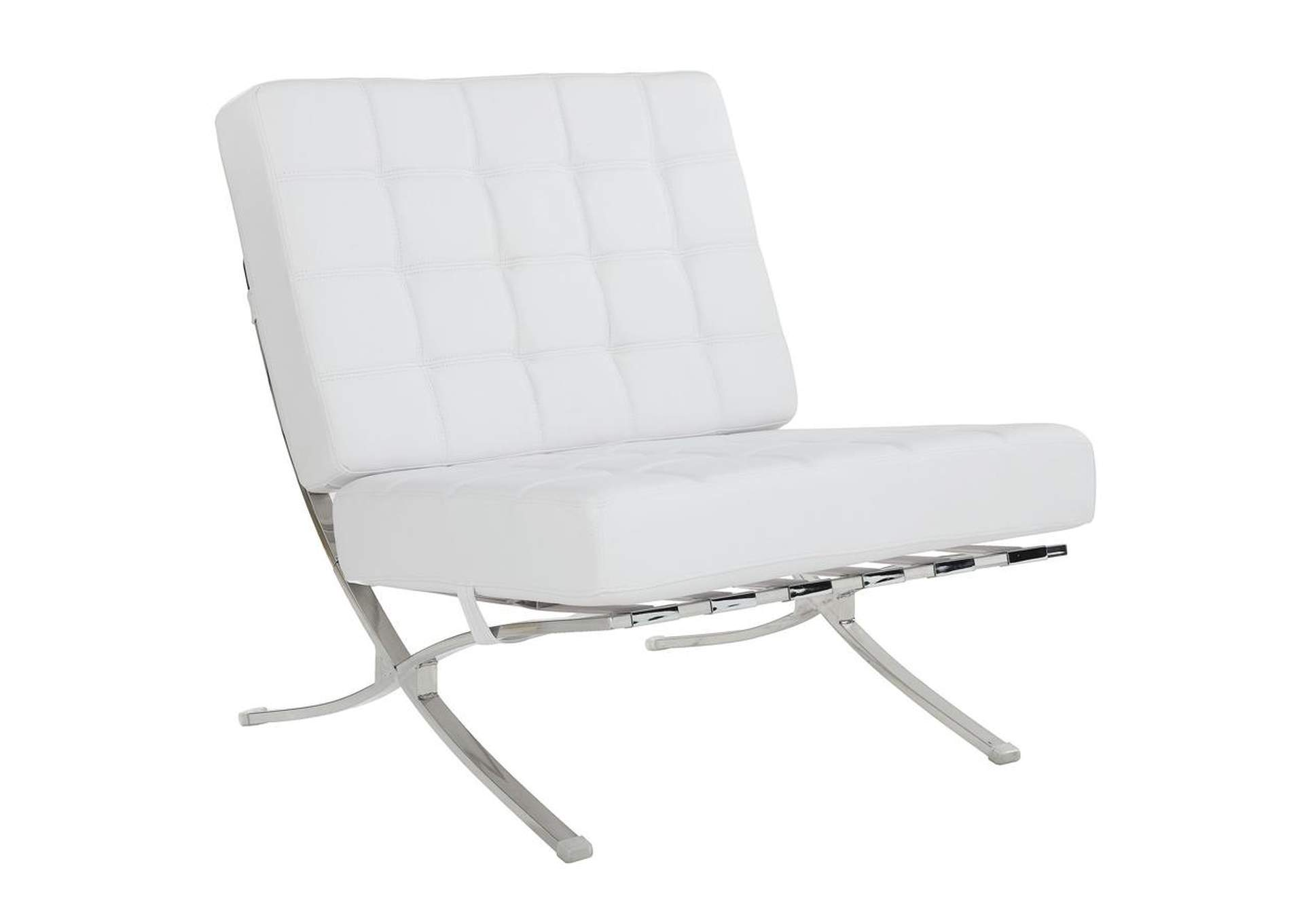 Mischka White and Chrome Accent Chair,Coaster Furniture