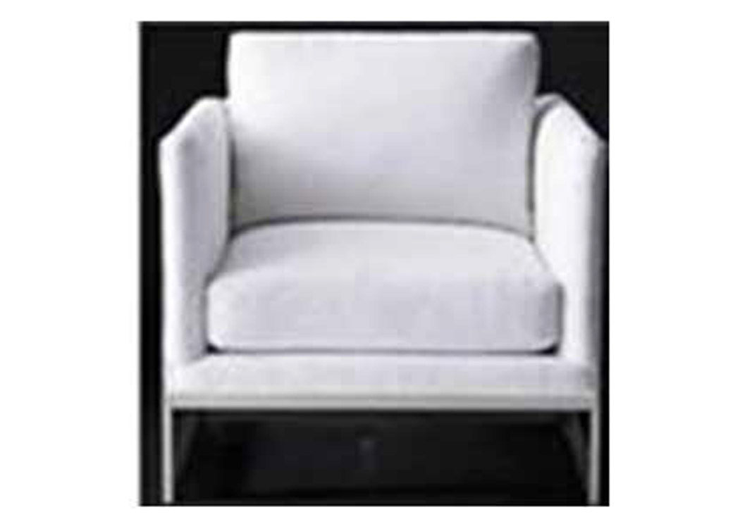 Brushed Chrome Modern Ivory And Brass Accent Chair La Bro S Home Furnishings Livermore Ca
