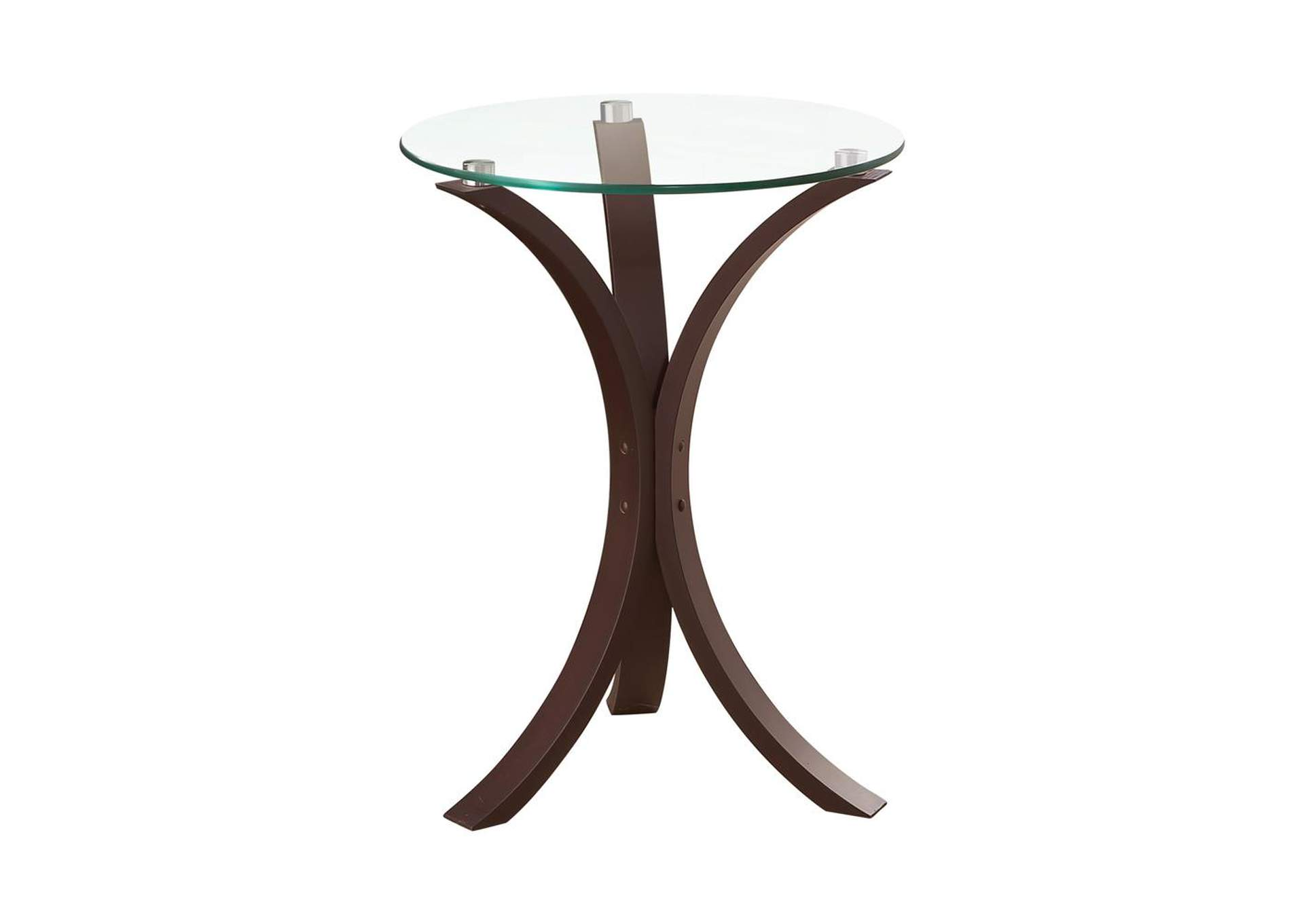 Cappuccino Transitional Cappuccino Accent Table,Coaster Furniture