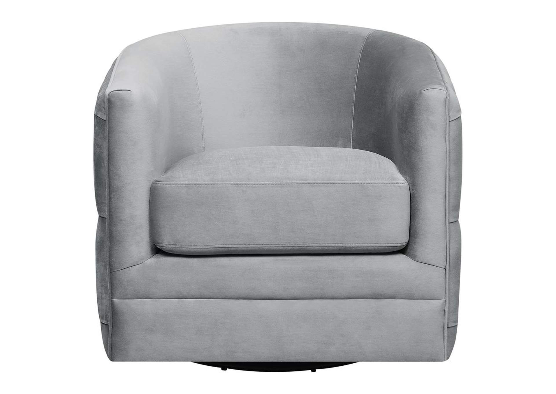 Oslo Gray Modern Grey Swivel Accent Chair,Coaster Furniture