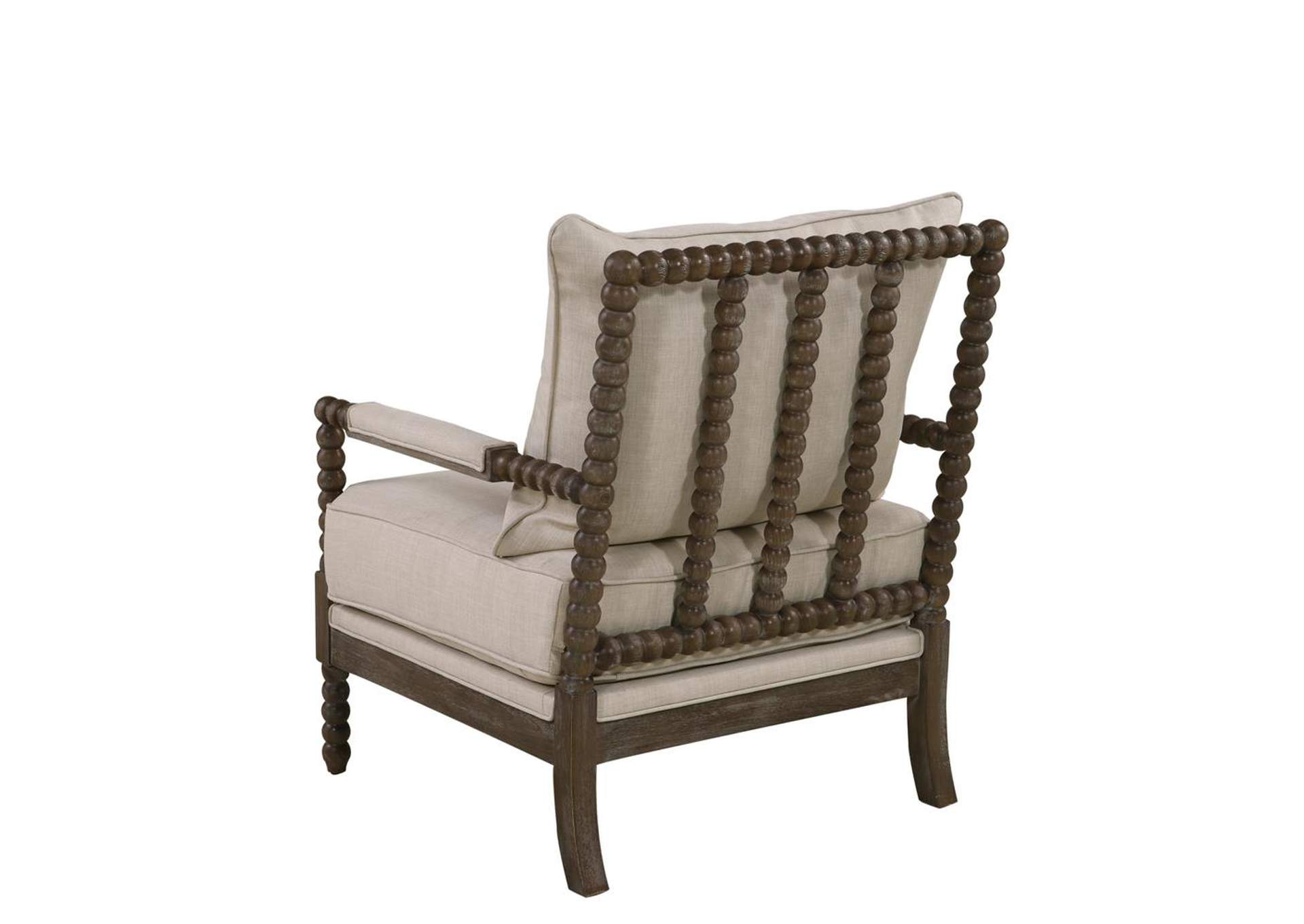 Ash Traditional Oatmeal and Natural Accent Chair,Coaster Furniture
