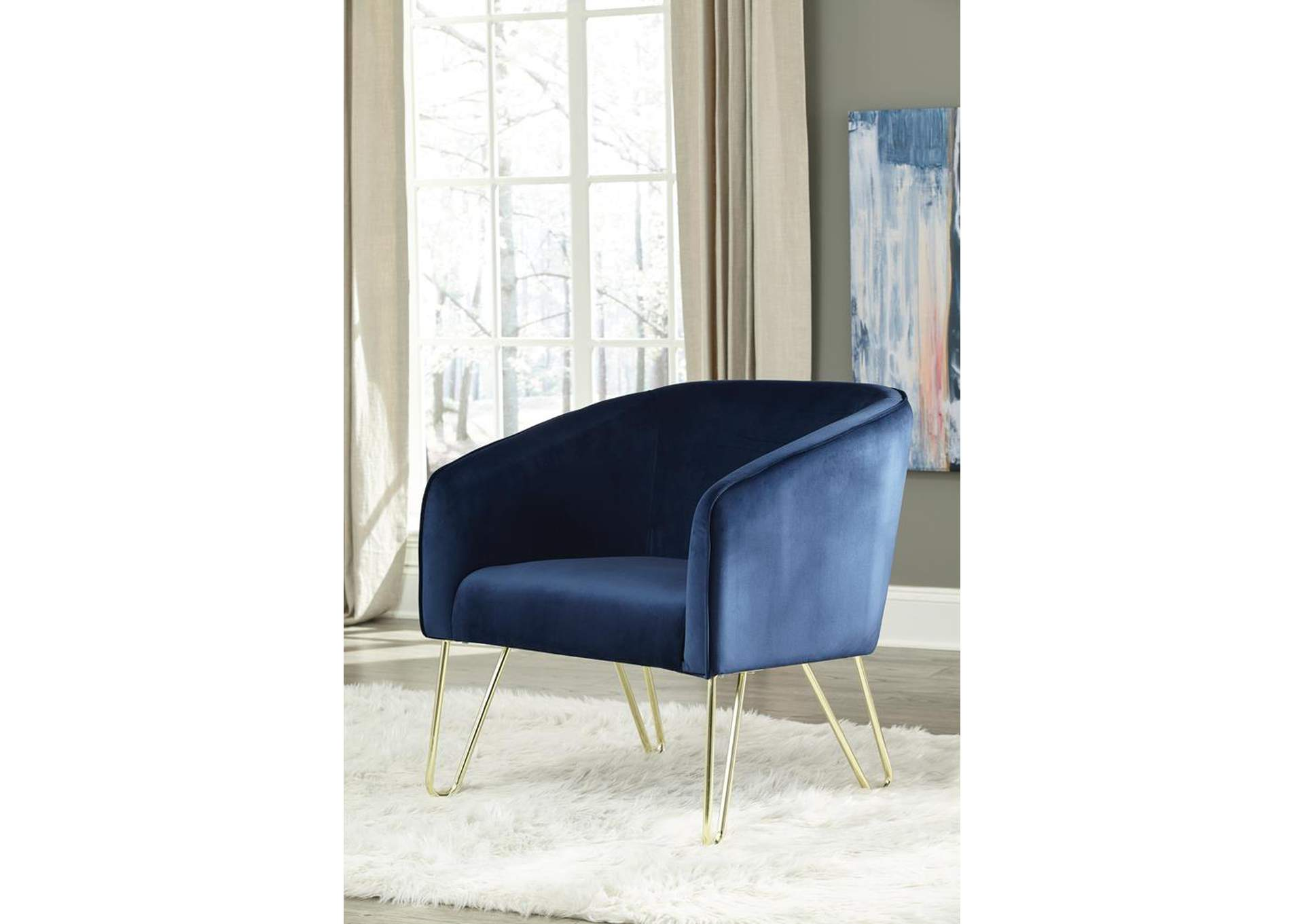 Picture of: Dark Blue Upholstered Accent Chair La Bro S Home Furnishings Livermore Ca