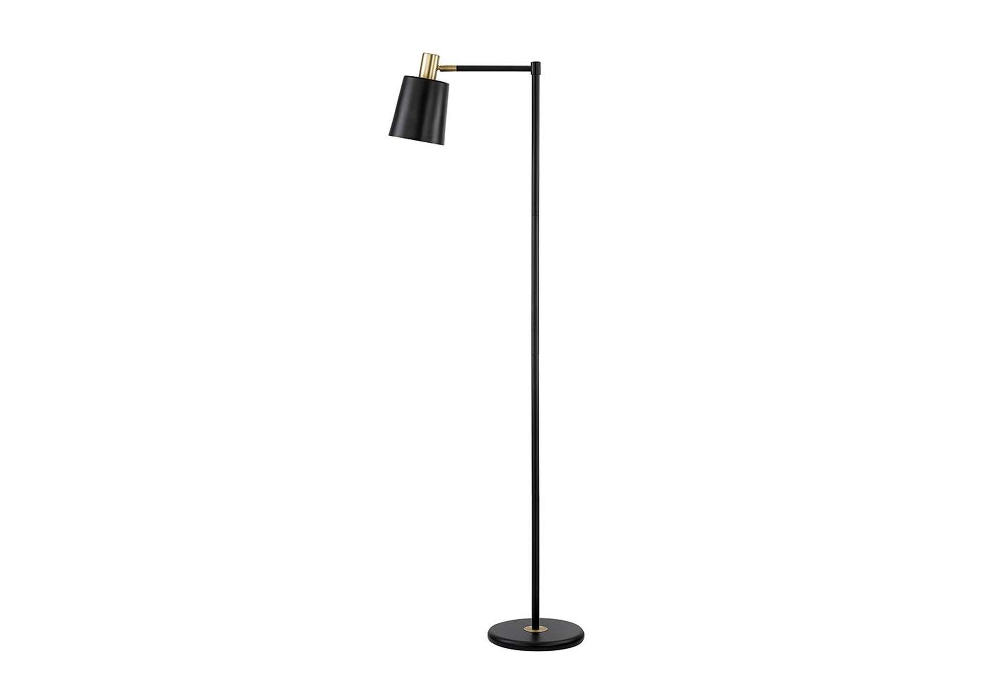 Silver Retro Black and Gold Floor Lamp,Coaster Furniture