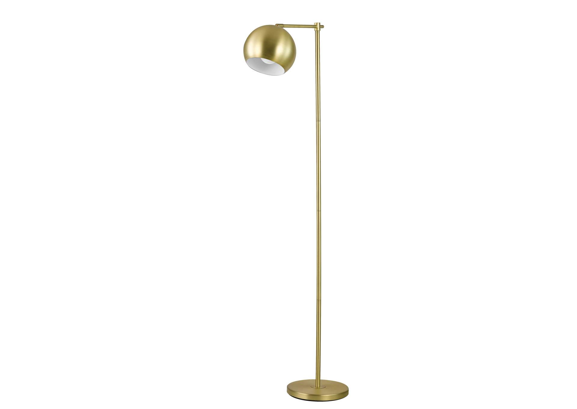 Indian Khaki Modern Brass Floor Lamp,Coaster Furniture