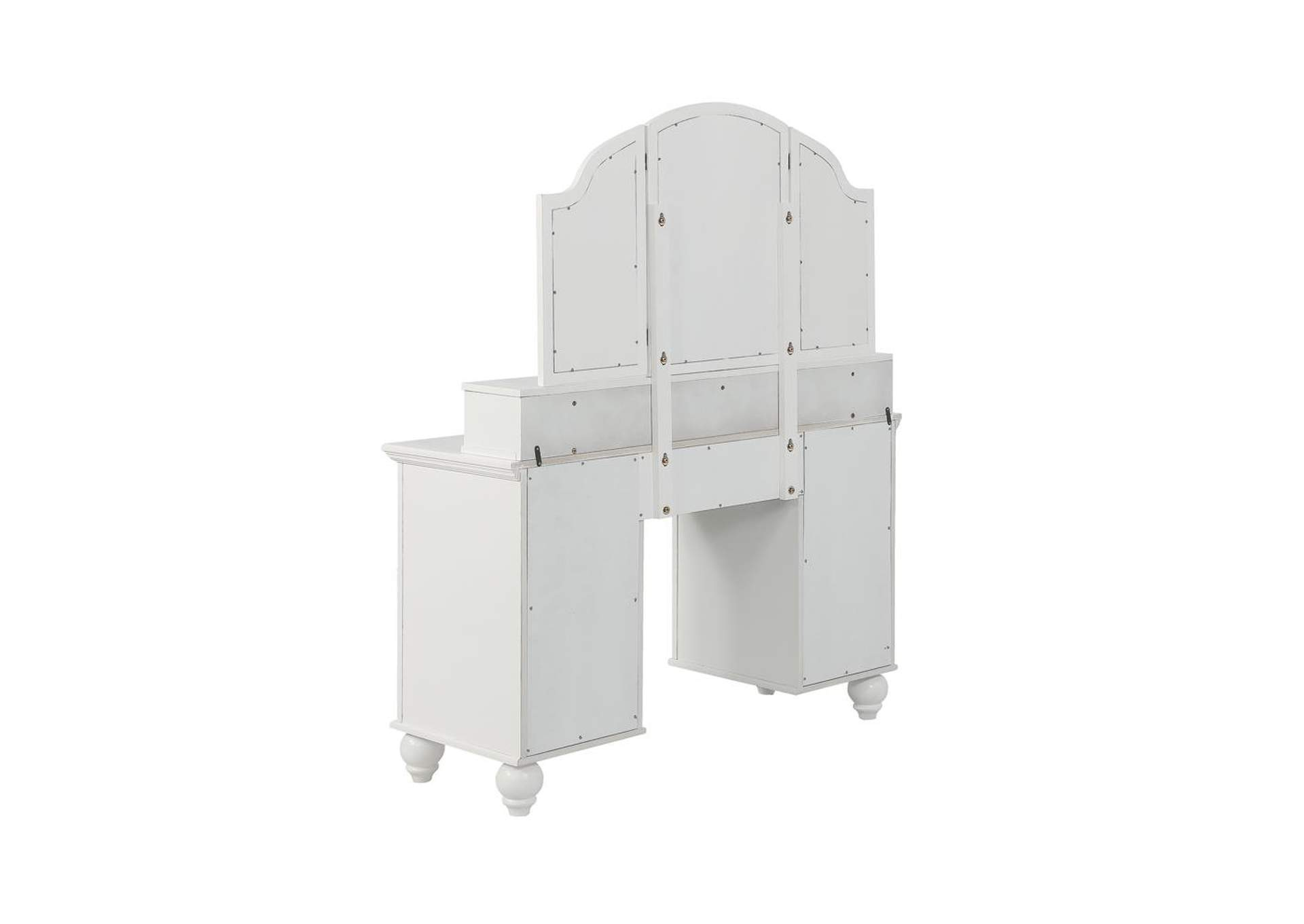 Cararra Transitional Beige and White Vanity Set,Coaster Furniture