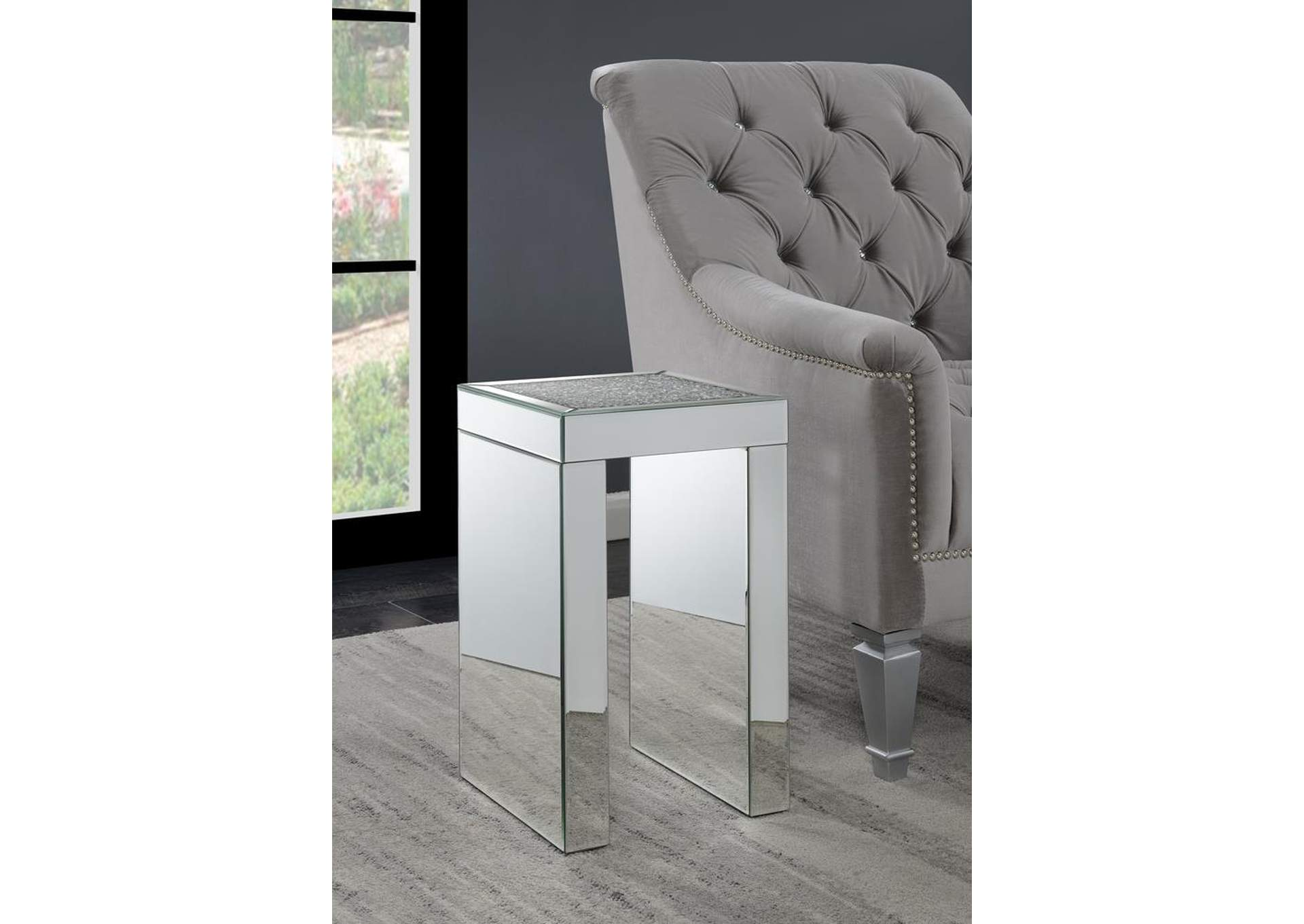 Mirrored Side Table,Coaster Furniture