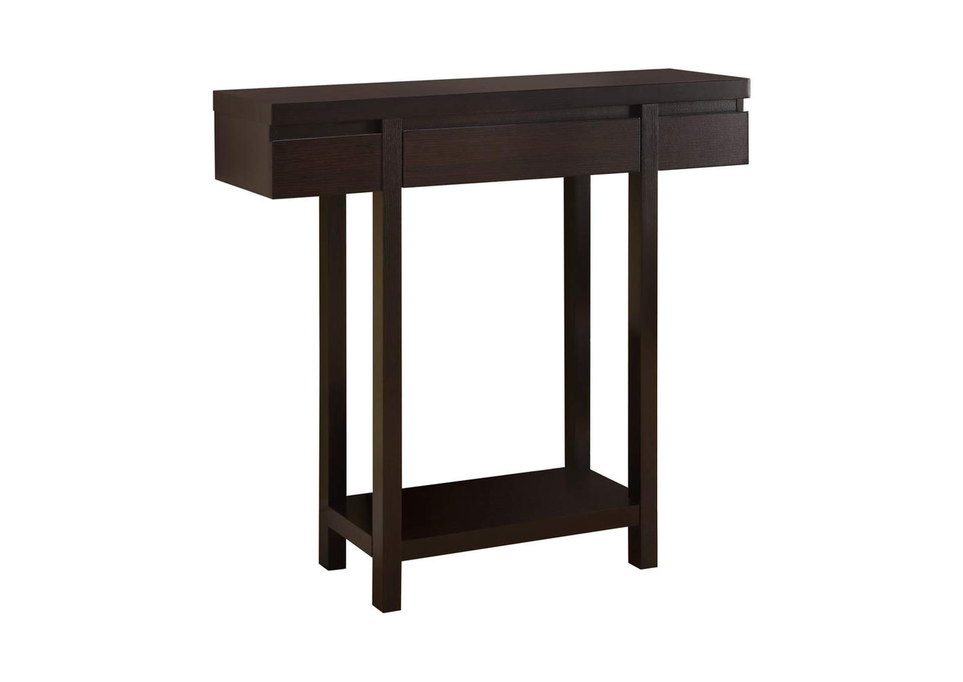 Cappuccino Contemporary Cappuccino Console Table,Coaster Furniture