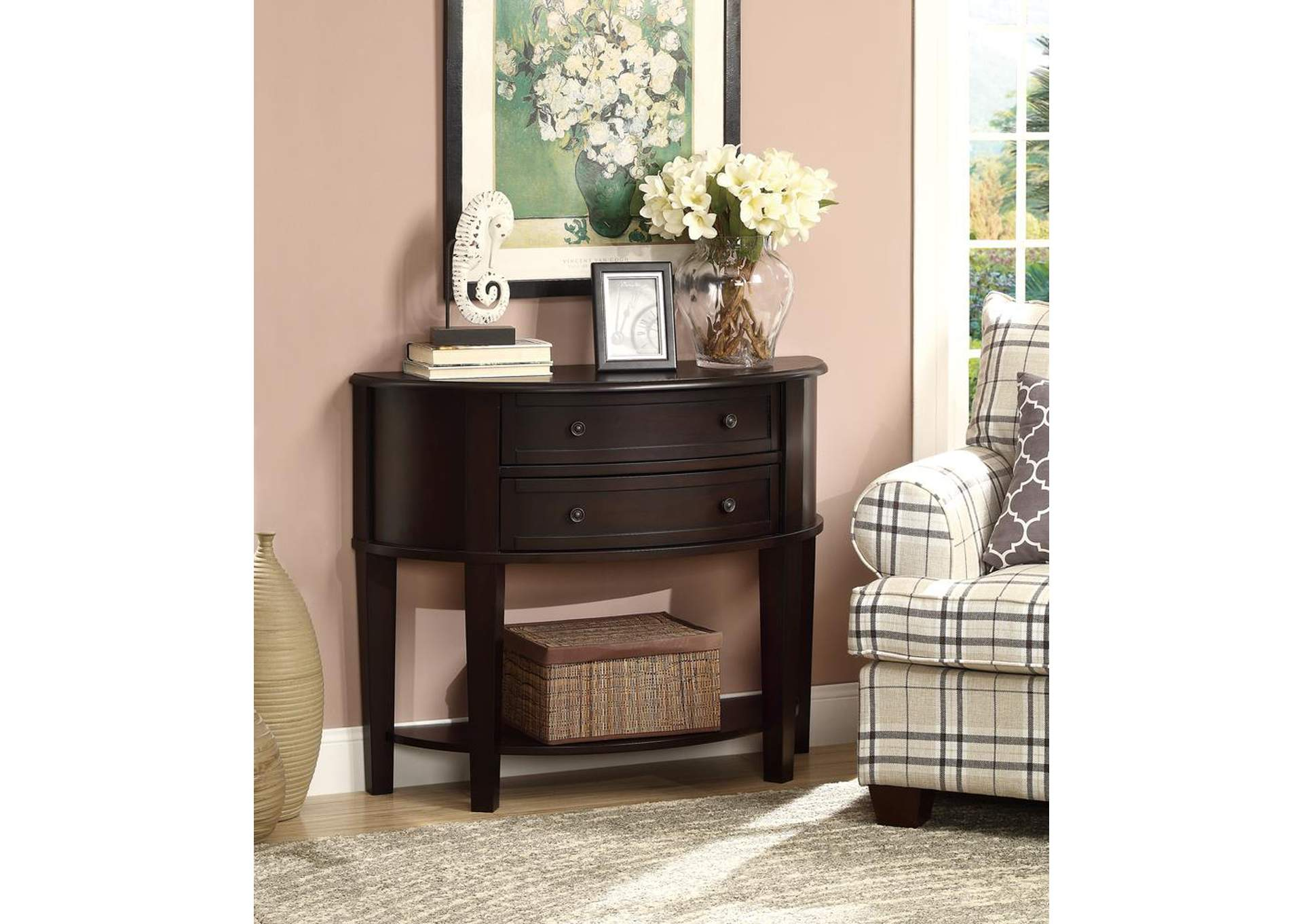 Cappuccino Casual Cappuccino Console Table,Coaster Furniture
