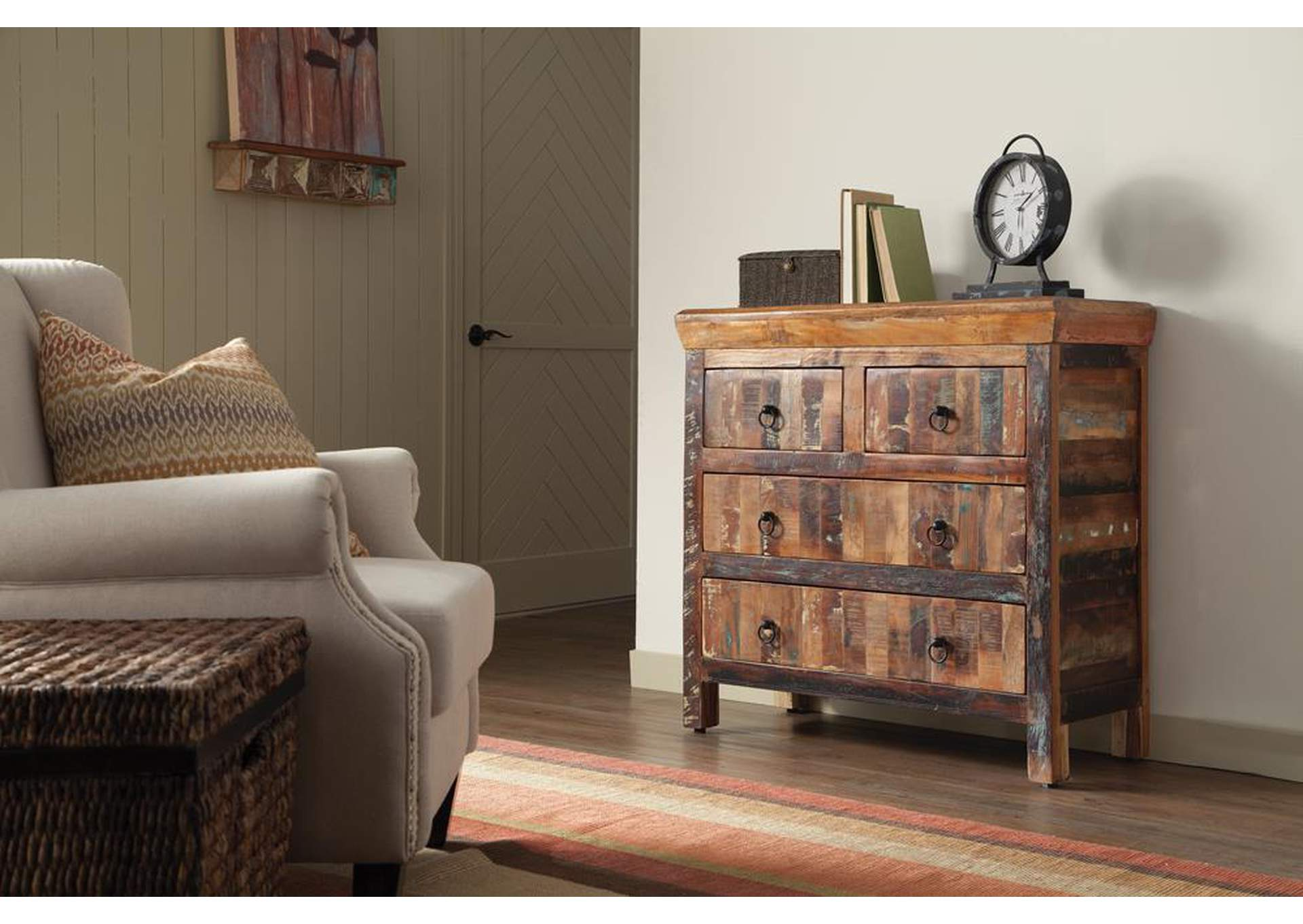 Night Rider Transitional Reclaimed Wood Accent Cabinet,Coaster Furniture