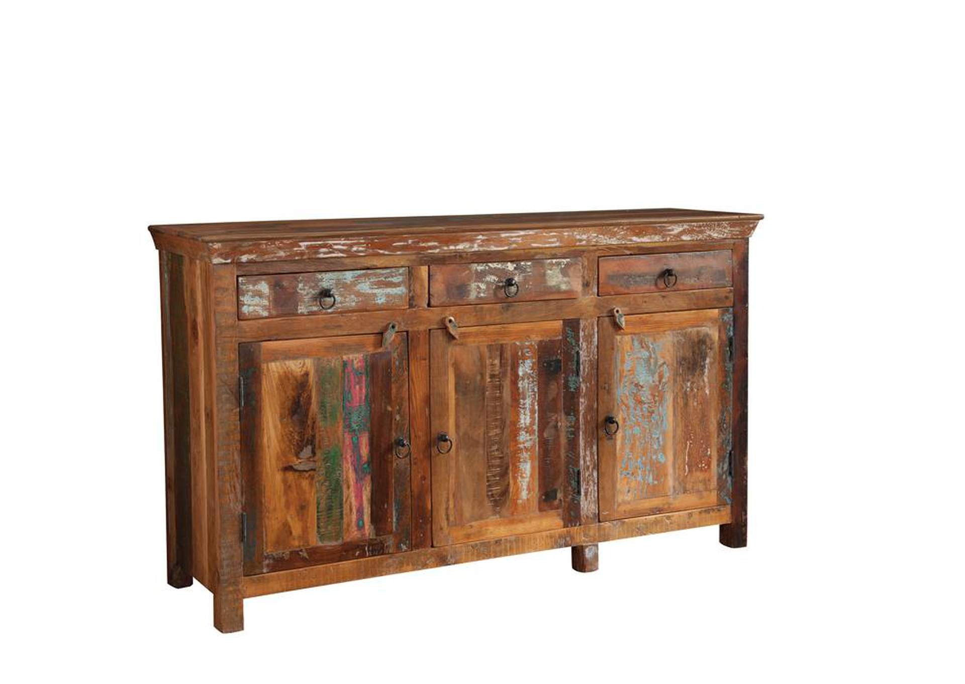 Old Copper Transitional Reclaimed Wood Accent Cabinet,Coaster Furniture