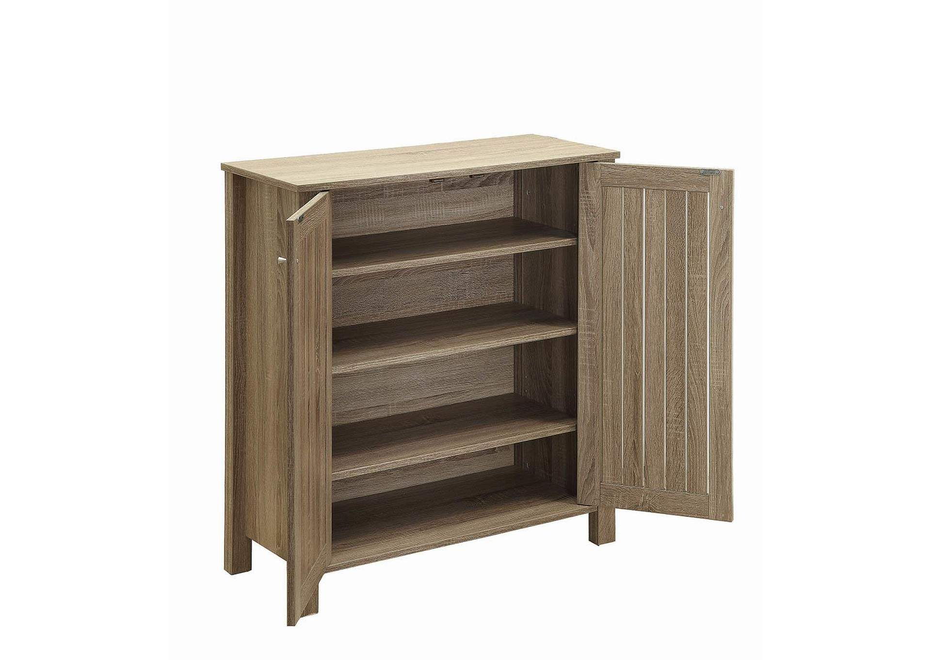 Weathered Taupe Country Two-Door Shoe Storage,Coaster Furniture