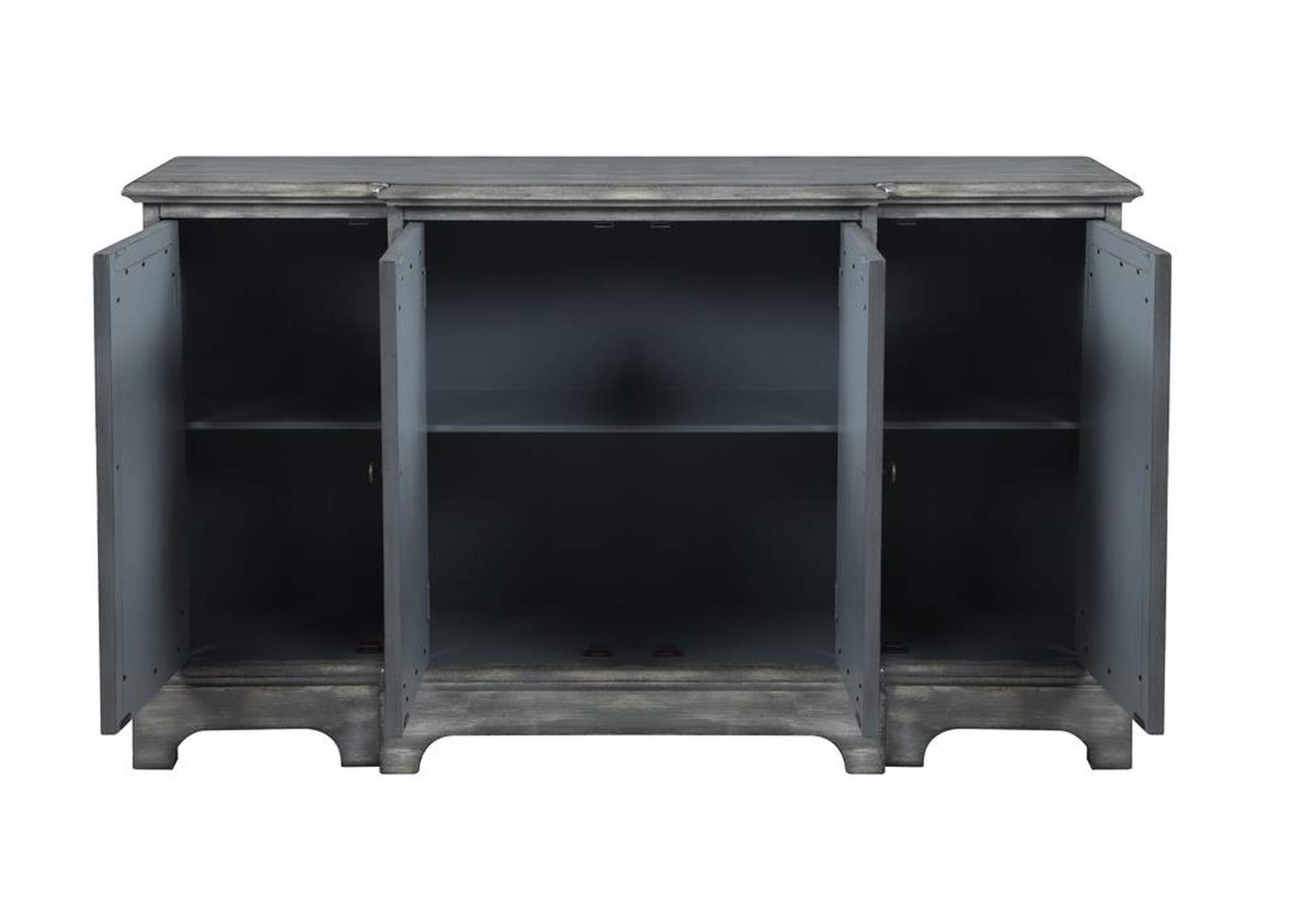 Sonic Silver Rustic Grey Accent Cabinet,Coaster Furniture