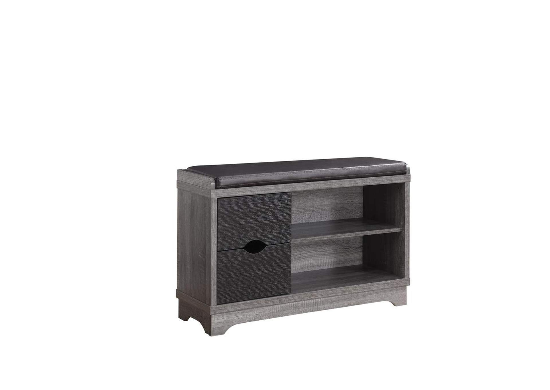 Distressed Grey/Black Rustic Distressed Grey Shoe Cabinet,Coaster Furniture