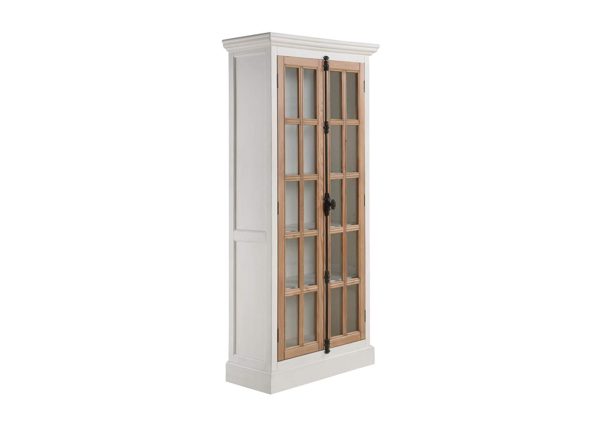 Mist Gray  Two-Tone Curio Cabinet,Coaster Furniture
