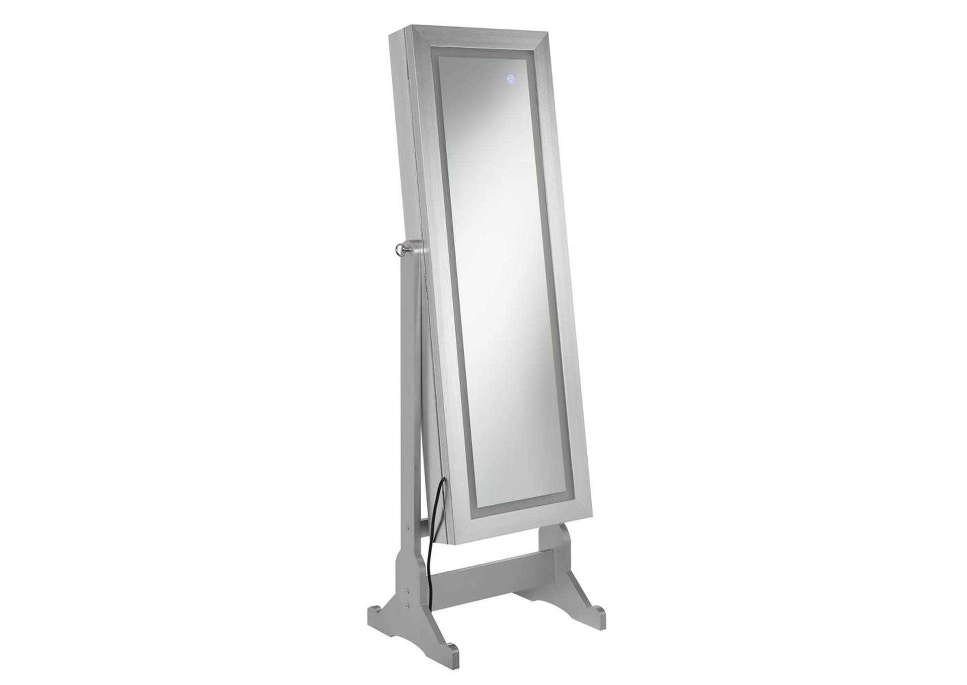 Silver Jewelry Cheval Mirror,Coaster Furniture