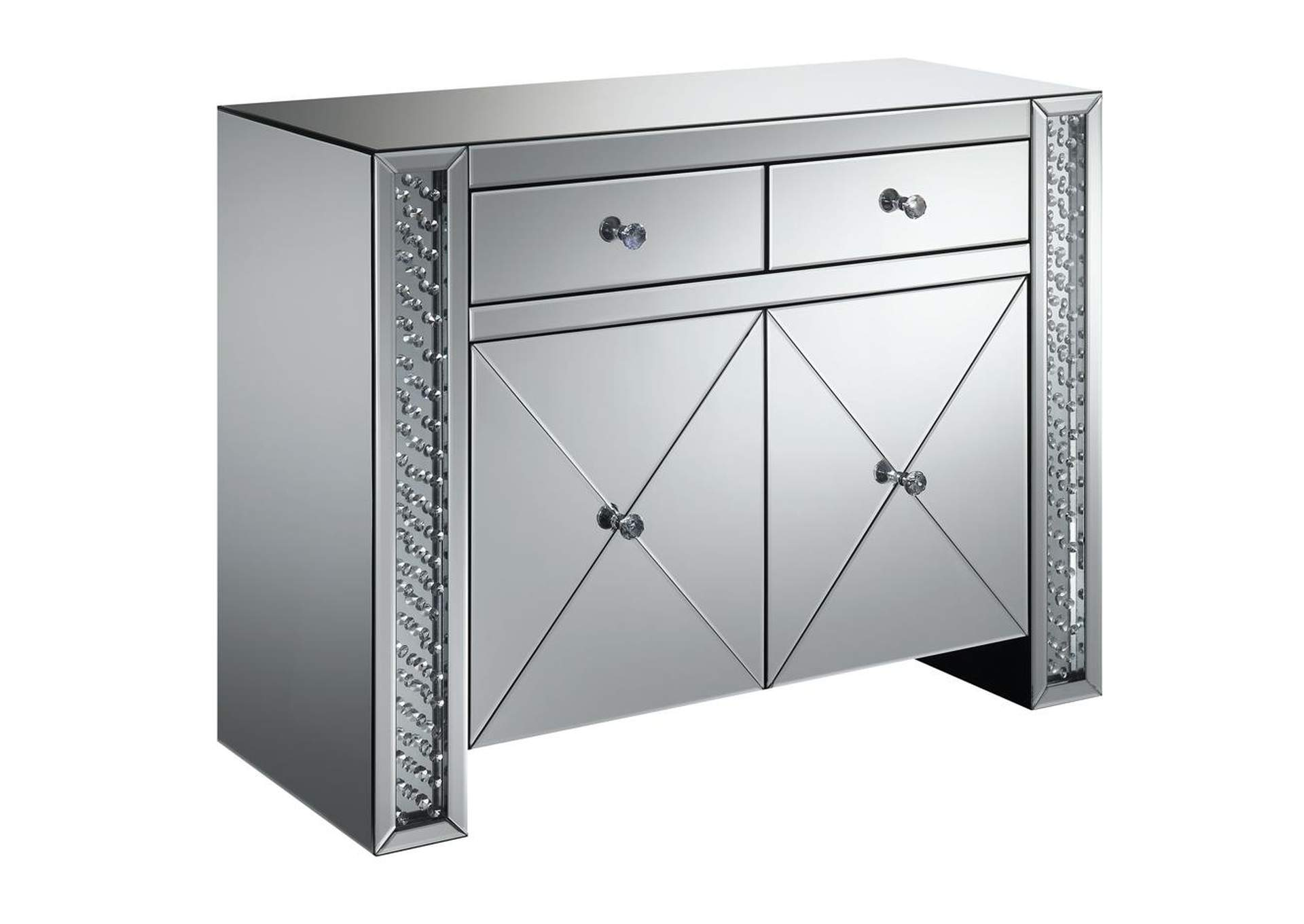 Silver Contemporary Silver Cabinet,Coaster Furniture