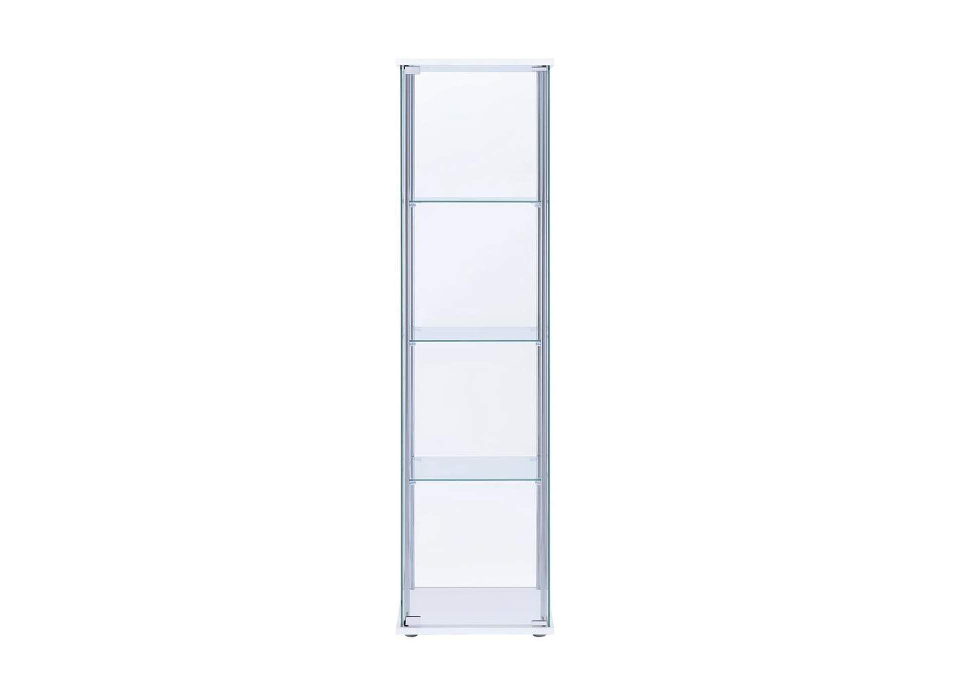 White Curio Cabinet,Coaster Furniture