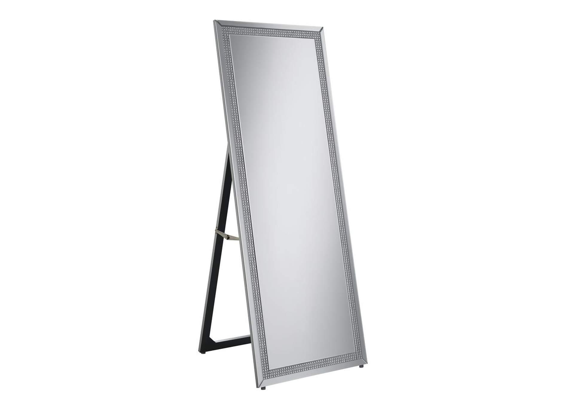 Silver Standing Cheval Mirror,Coaster Furniture