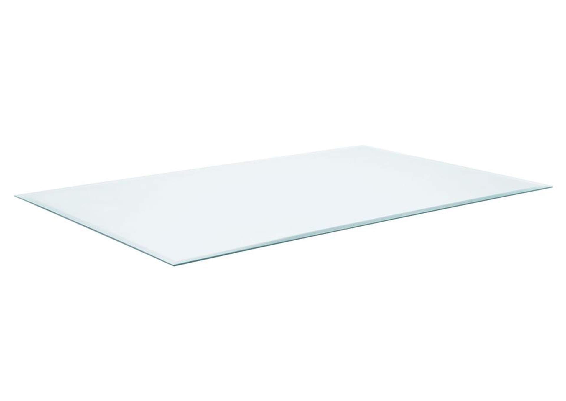 "42"" x 72"" Rectangular Glass Table Top,Coaster Furniture"