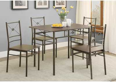 Image for Walnut Transitional Walnut Five-Piece Set
