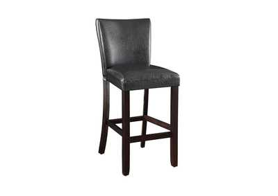 Image for Upholstered Bar Stools Black And Cappuccino (Set of 2)