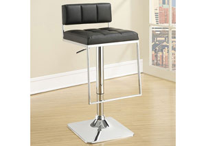 Adjustable Bar Stool Chrome And Black,Coaster Furniture