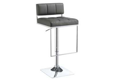 Image for Adjustable Bar Stool Chrome And Grey