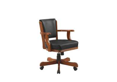 Mine Shaft Mitchell Traditional Merlot Game Chair,Coaster Furniture
