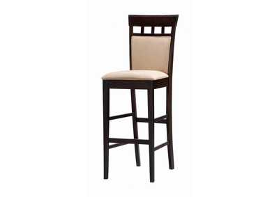 Image for Upholstered Bar Stools Cappuccino And Tan (Set of 2)