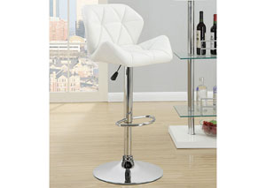 Adjustable Bar Stools Chrome And White (Set of 2),Coaster Furniture