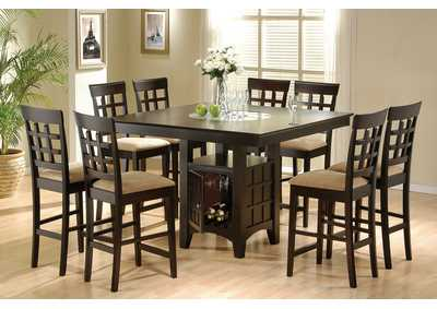 Image for Cappuccino 9 Piece Counter Dining Set W/ 8 Stool [Set of 2]s