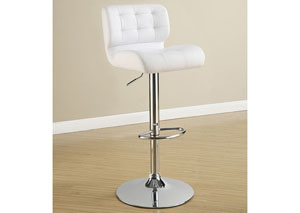 Upholstered Adjustable Bar Stools Chrome And White (Set of 2),Coaster Furniture