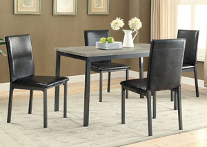 Image for Black Dining Table w/4 Side Chairs