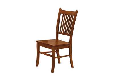 Image for Jambalaya Marbrisa Mission Burnished Oak Side Dining Chair