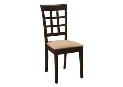 Image for Gabriel Lattice Back Side Chairs Cappuccino And Tan (Set of 2)