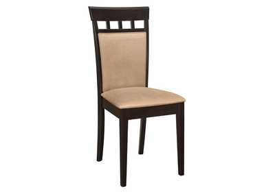 Image for Gabriel Upholstered Side Chairs Cappuccino And Tan (Set of 2)