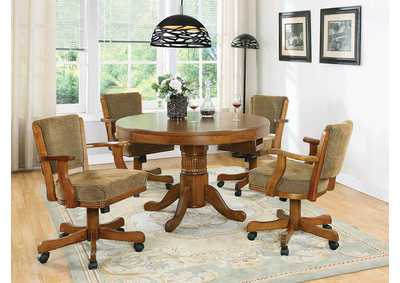 Image for Mercury Mitchell Traditional Oak Game Table