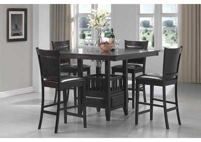 Image for Jaden Upholstered Counter Height Stools Black And Espresso (Set of 2)