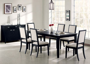 Image for Lexton Black Dining Table w/4 Side Chairs