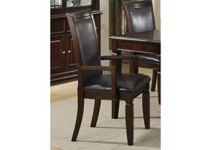 Image for Rich Brown Ramona Transitional Arm Dining Chair