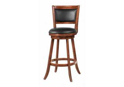Image for Upholstered Swivel Bar Stools Chestnut And Black (Set of 2)