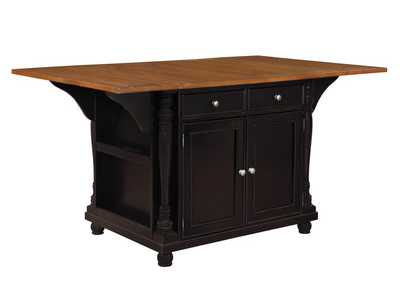 Image for Licorice Slater Country Cherry and Black Kitchen Island