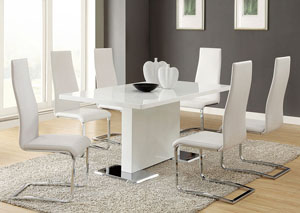 Image for Nameth White Dining Table w/4 Side Chairs