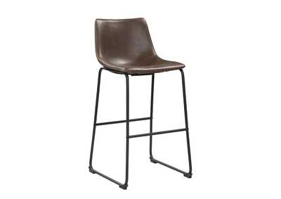 Armless Bar Stools Two-Tone Brown And Black (Set of 2),Coaster Furniture