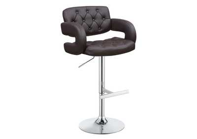 "Image for 29"" Adjustable Height Bar Stool Chrome And Brown"